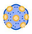 laboratory microscopic bacterium sign icon vector image