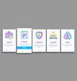 law and judgement onboarding icons set vector image