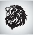 lion roaring mascot logo template vector image