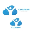 logo combination of a cloud and man vector image vector image