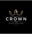 luxury minimalist crown label logo icon vector image