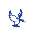 Mallard Duck Wings Landing Side Retro vector image vector image