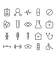 medical icon set collection suitable for info vector image vector image
