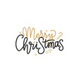 merry christmas lettering sign greeting text candy vector image vector image