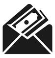 money envelope icon simple style vector image