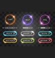 neon buttons for web shop vector image vector image