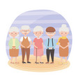 old people group people grandparents mature vector image