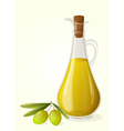 Olive oil and branch of olives vector image vector image
