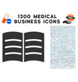 open book icon with 1300 medical business icons vector image vector image