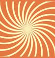 orange spiral vintage vector image vector image