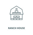 ranch house line icon linear concept vector image vector image
