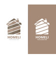 real estate logo combination house and vector image