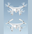 realistic flying drone vector image vector image