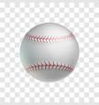 realistic white baseball ball object vector image
