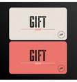 Retro Gift card template vector image vector image