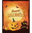 Retro Halloween background vector image vector image