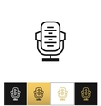 Retro microphone or stage audio record news vector image vector image