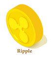 ripple icon isometric style vector image