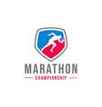 running man logo design vector image vector image