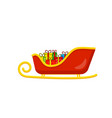 santa sleigh with presents for christmas design vector image
