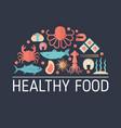 sea food concept sea food concept vector image