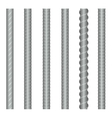 Seamless steel rebars reinforcements set vector image
