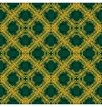 Seamless yellow and green pattern in arabic or vector image