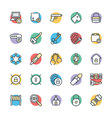 Security Cool Icons 5 vector image vector image