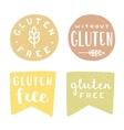 set gluten free badges vector image vector image