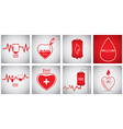 Set of blood donation vector image vector image