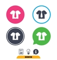 Shirt with tie sign icon Clothes symbol vector image