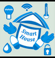 smart house concept building and symbols main vector image