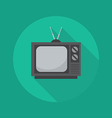 Technology Flat Icon Television vector image vector image