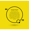 Text bubble on a yellow background vector image vector image