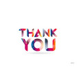 thank you colored rainbow word text suitable for vector image