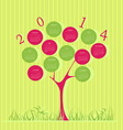 Tree calendar for 2014 year vector image