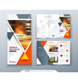 trifold brochure design orange template for vector image vector image
