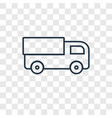 truck toy concept linear icon isolated on vector image vector image