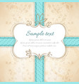 vintage invitation template vector image vector image