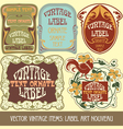 Vintage items - label art nouveau