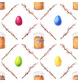 Watercolor easter pattern vector image
