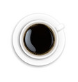 white cup coffee vector image vector image