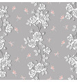 white roses garden with dragonfly seamless pattern vector image vector image