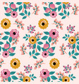 yellow and pink boho roses seamless pattern vector image vector image