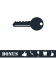 Key icon flat vector image