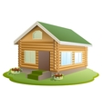 Modern wooden house Log house New home with vector image