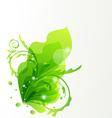 Nature transparent floral design element vector image