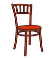 Classic red chair vector image