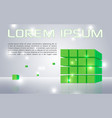 abstract colorful background with green cubes vector image