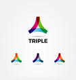 abstract colorful triangle logo sign symbol icon vector image